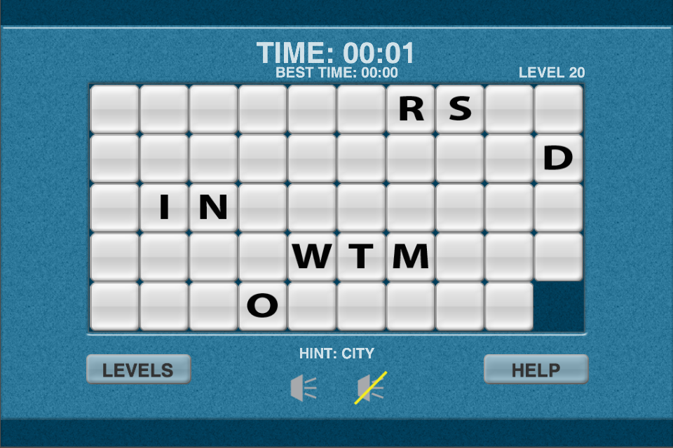 Screenshot WoW Word Slide Puzzle